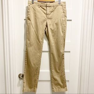 BANANA REPUBLIC Beige Straight-leg Chinos